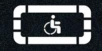 Нанесение парковки инвалид холодным пластиком