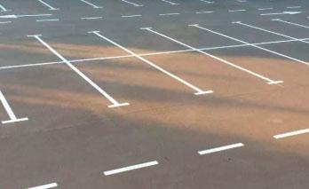 Разметка парковки холодным пластиком